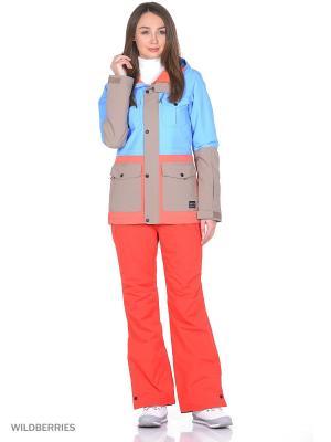 Куртка O'Neill. Цвет: голубой, бежевый, оранжевый