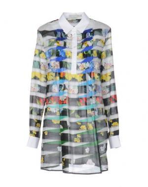 Короткое платье MARY KATRANTZOU. Цвет: белый