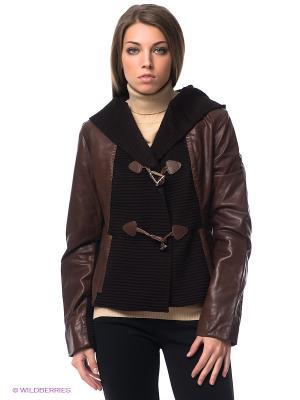 Куртка STEFANO FERRI. Цвет: коричневый, темно-коричневый