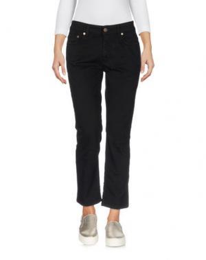 Джинсовые брюки-капри REIGN. Цвет: черный