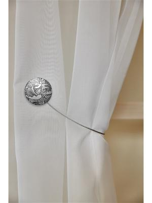 Магнитная клипса с тросом (30 см) Волны хром матовый IZKOMODA. Цвет: серебристый