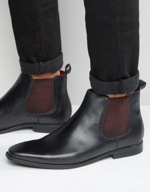 Base London Кожаные ботинки челси William. Цвет: черный
