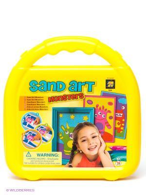 Набор для творчества Создай картинки из песка AMAV. Цвет: желтый