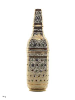 Шкатулка для бутылки латунь цветная эмаль ETHNIC CHIC. Цвет: синий, зеленый, красный, золотистый, белый