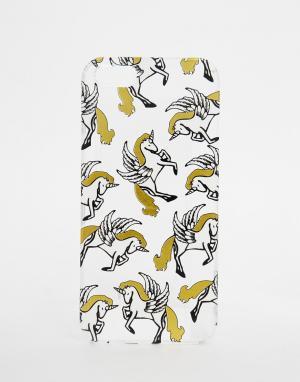 Skinnydip Золотистый чехол для iPhone 5 с единорогами. Цвет: мульти