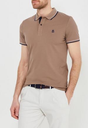 Поло Selected Homme. Цвет: коричневый