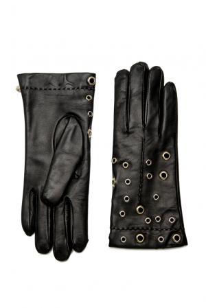 Кожаные перчатки 177499 Anna Rita N. Цвет: черный