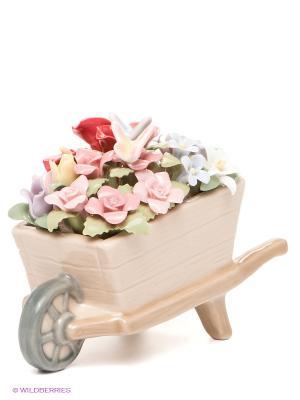 Композиция Весенние цветы Pavone. Цвет: бежевый, красный, зеленый