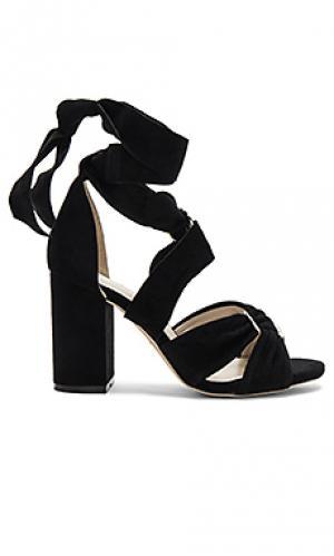 Сандалии на каблуке sebastian RAYE. Цвет: черный