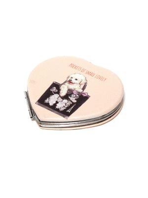 Зеркальце карманное Eleon. Цвет: темно-фиолетовый, персиковый