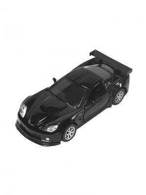 Машинка Инерционная Chevrolet Corvette C6-R, Черная (1:32) (PS-554003-BL) Pit Stop. Цвет: черный