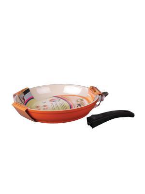 Сковорода 26см Green Top. Цвет: оранжевый