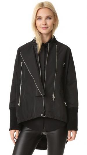 Пальто из нейлона KAUFMANFRANCO. Цвет: оникс