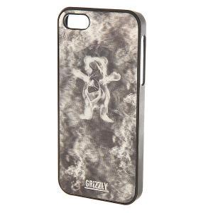 Чехол для iPhone 5s  3d Smoke Bear Case Black Grizzly. Цвет: серый,черный
