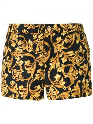 Пляжные шорты Baroque Versace. Цвет: чёрный