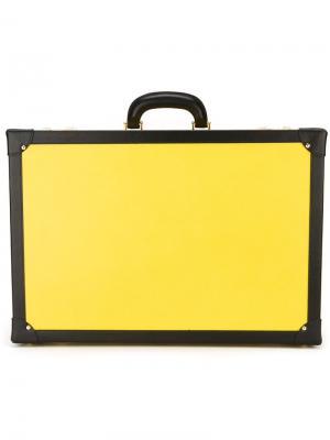Кожаный кейс для солнцезащитных очков Family Affair. Цвет: жёлтый и оранжевый