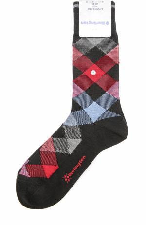 Шерстяные носки Newcastle Burlington. Цвет: черный