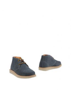 Полусапоги и высокие ботинки BASE. Цвет: грифельно-синий