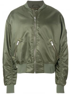 Куртка-бомбер  с принтом tribal Misbhv. Цвет: зелёный