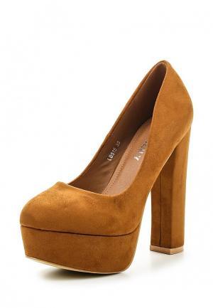 Туфли Exquily. Цвет: коричневый