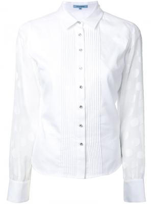 Рубашка с рукавами в горох Guild Prime. Цвет: белый