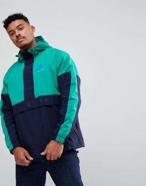 Nike Зеленая куртка с молнией Air 861634-370. Цвет: зеленый
