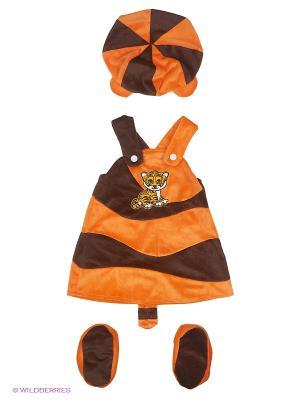 Карнавальный костюм Тигрица Батик. Цвет: коричневый, рыжий