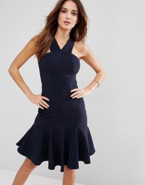 Forever Unique Платье. Цвет: синий