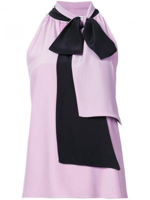 Блузка с бантом Prabal Gurung. Цвет: розовый и фиолетовый