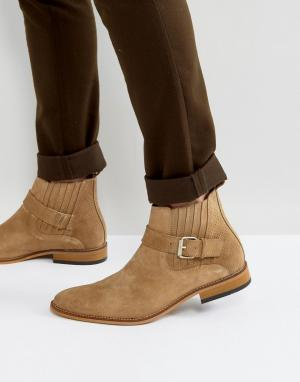 House of Hounds Светло-коричневые замшевые ботинки с пряжками Adrian. Цвет: рыжий