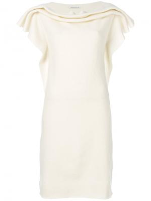 Облегающее платье Stefano Mortari. Цвет: белый