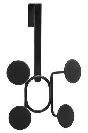 Вешалка надверная, 4 крючка UMBRA. Цвет: черный