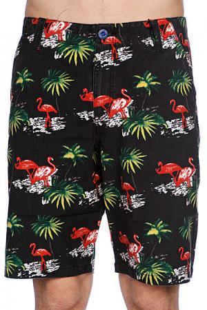Классические мужские шорты  Pixel Tropics Black Matix. Цвет: черный