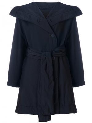 Куртка с массивным воротником Issey Miyake Cauliflower. Цвет: синий