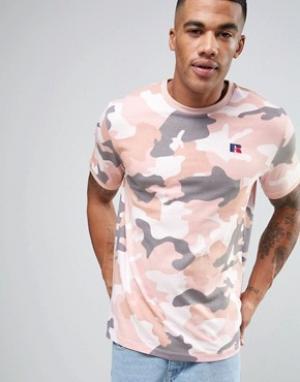 Russell Athletic Камуфляжная футболка. Цвет: зеленый