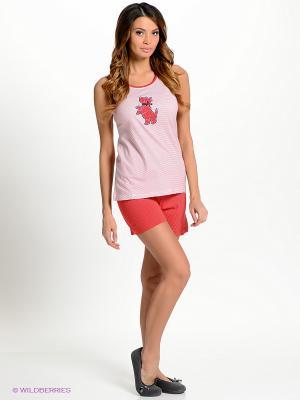 Пижама Vienetta Secret. Цвет: красный, белый