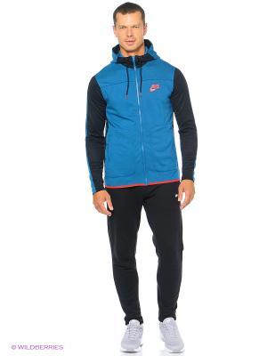 Толстовка M NSW AV15 HOODIE FZ FLC Nike. Цвет: голубой