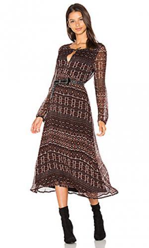 Платье миди fleur Sanctuary. Цвет: коричневый
