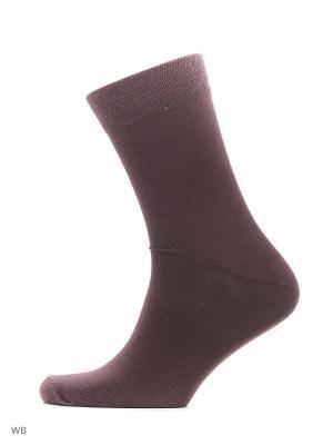 Носки хипстерские (2 пары) HOSIERY. Цвет: коричневый