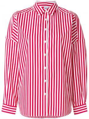Полосатая рубашка Aspesi. Цвет: красный