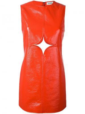 Платье с резной деталью Courrèges. Цвет: жёлтый и оранжевый