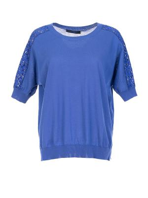 Блузка Blue les Copains. Цвет: синий