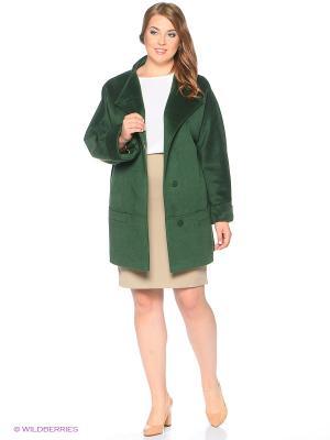 Пальто Amulet. Цвет: темно-зеленый