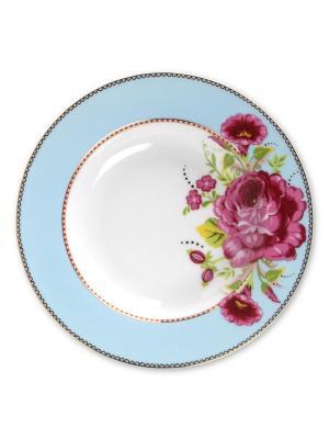Набор из 2-х глубоких тарелок Floral Blue Pip studio. Цвет: голубой