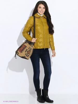 Куртка GEOX. Цвет: зеленый, золотистый