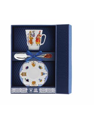 Набор чайный Майская - Балет Шахерезада 3 предмета + футляр АргентА. Цвет: серебристый