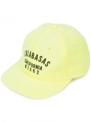 Кепка Calabasas California Yeezy. Цвет: жёлтый и оранжевый
