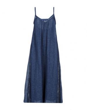 Длинное платье FORTE-FORTE. Цвет: темно-синий