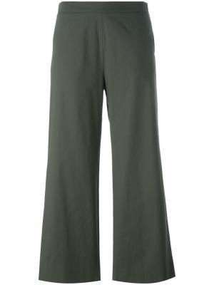 Укороченные брюки Fabiana Filippi. Цвет: зелёный