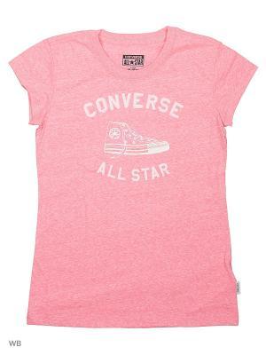 Футболка Converse. Цвет: розовый